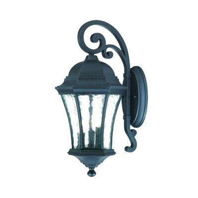 Waverly 3-Light Outdoor Wall Lantern Finish: Matte Black