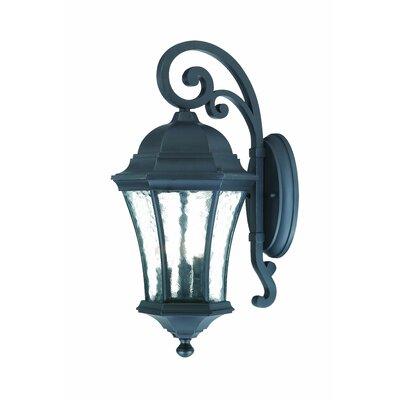 Waverly 3-Light Outdoor Wall Lantern Finish: Matte Black