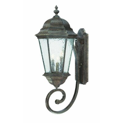 Telfair 3-Light Outdoor Sconce Finish: Black Coral