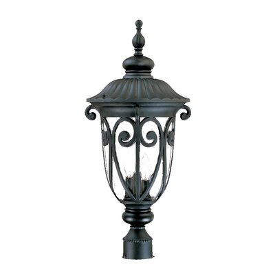 Naples Outdoor 3-Light Lantern Head Finish: Matte Black