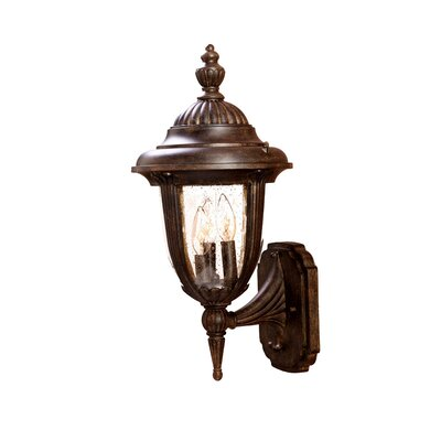Monterey 3-Light Outdoor Sconce Finish: Black Coral