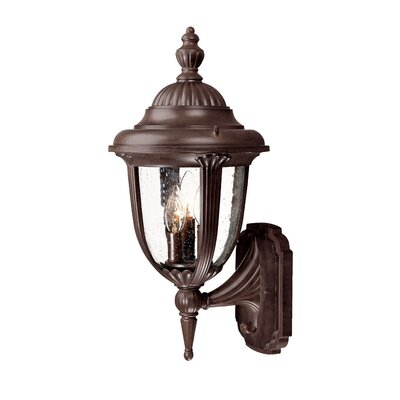 Monterey 3-Light Outdoor Sconce Finish: Burled Walnut
