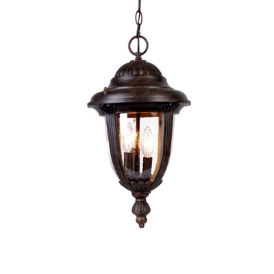 Monterey 3-Light Outdoor Hanging Lantern Finish: Black Coral