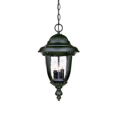 Monterey 3-Light Outdoor Hanging Lantern Finish: Matte Black