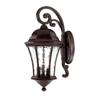 Waverly 3-Light Outdoor Wall Lantern Finish: Black Coral