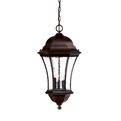 Waverly 3-Light Outdoor Hanging Lantern Finish: Black Coral