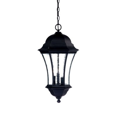 Waverly 3-Light Outdoor Hanging Lantern Finish: Matte Black