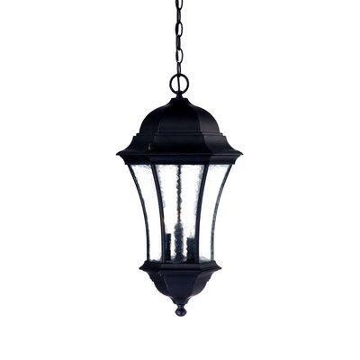 Waverly 3-Light Outdoor Hanging Lantern Finish: Matte Black