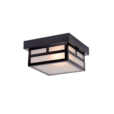 San Pablo 1-Light Flush Mount Finish: Matte Black