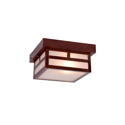 Artisan 1-Light Flush Mount Finish: Architectural Bronze