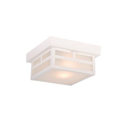 Artisan 1-Light Flush Mount Finish: Textured White