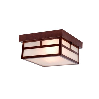 Hicklin 2-Light Flush Mount Finish: Architectural Bronze
