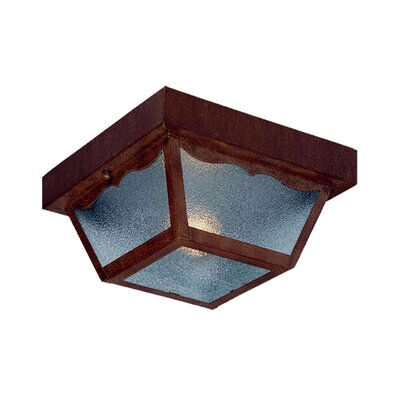 Ledbetter 1-Light Steel Flush Mount Finish: Burled Walnut