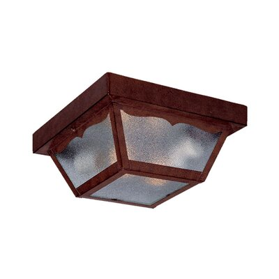 Ledbetter 2-Light Flush Mount Finish: Burled Walnut
