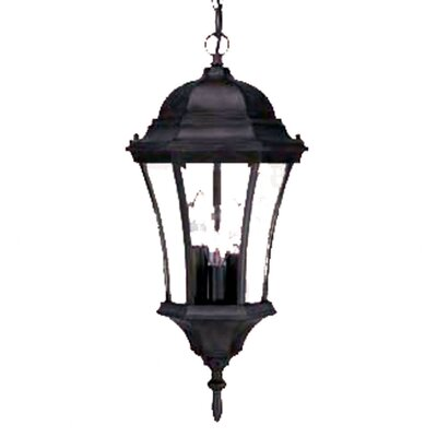 Brynmawr 3-Light Outdoor Hanging Lantern Finish: Matte Black
