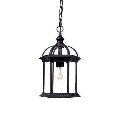 Dover 1-Light Outdoor Hanging Lantern Finish: Matte Black