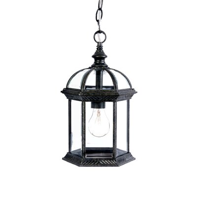 Dover 1-Light Outdoor Hanging Lantern Finish: Stone