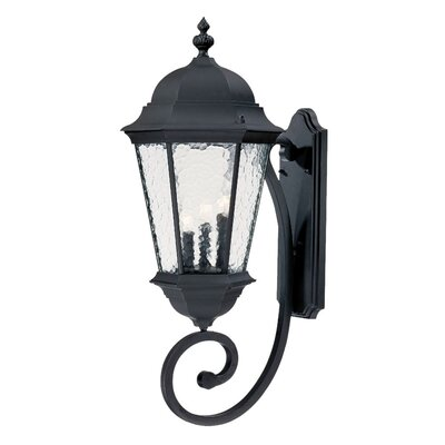 Telfair 3-Light Outdoor Sconce Finish: Matte Black