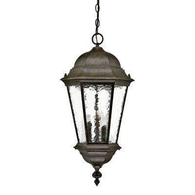 Telfair 3-Light Outdoor Hanging Lantern Finish: Black Coral