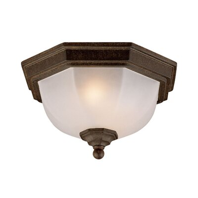 2-Light Flush Mount Finish: Black Coral