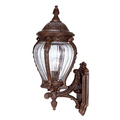 Nottingham 1-Light Outdoor Sconce Finish: Burled Walnut