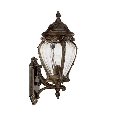 Nottingham 3-Light Outdoor Sconce Finish: Black Coral
