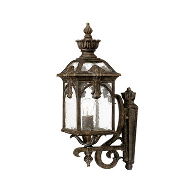 Belmont 1-Light Outdoor Sconce Finish: Black Coral