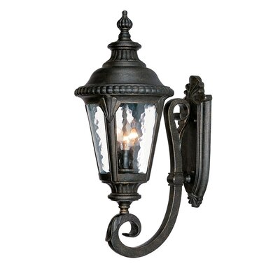 Surrey 3-Light Outdoor Sconce Finish: Black Gold