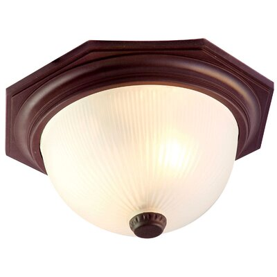 Outer Banks 2-Light Flush Mount Finish: Architectural Bronze