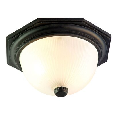 Outer Banks 2-Light Flush Mount Finish: Matte Black