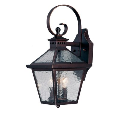 Bay Street 2-Light Outdoor Wall Lantern Finish: Architectural Bronze