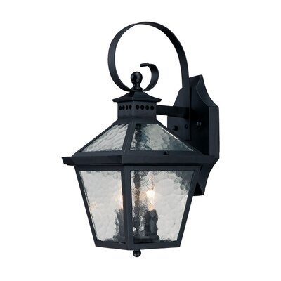 Bay Street 2-Light Outdoor Wall Lantern Finish: Matte Black