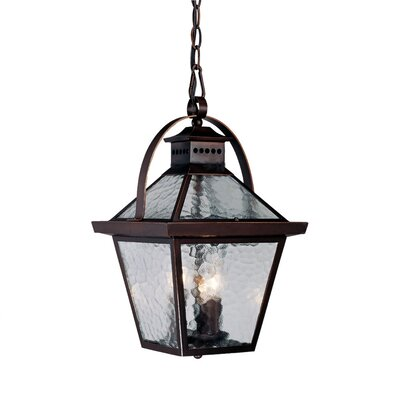 Bay Street 3-Light Outdoor Hanging Lantern Finish: Architectural Bronze