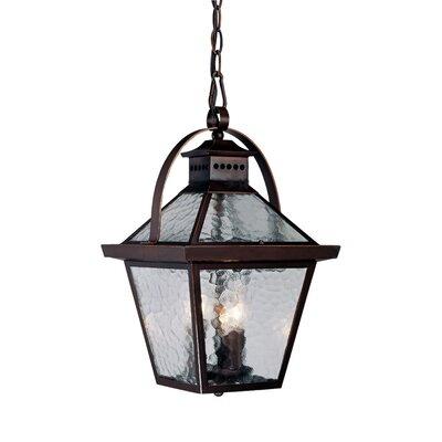 Bay Street 3-Light Outdoor Hanging Lantern Finish: Architectural Bronze