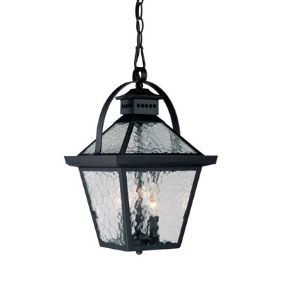 Bay Street 3-Light Outdoor Hanging Lantern Finish: Matte Black