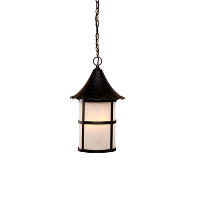 Ashton 3-Light Outdoor Hanging Lantern Finish: Matte Black