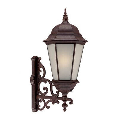 Richmond 1-Light Outdoor Sconce Finish: Burled Walnut