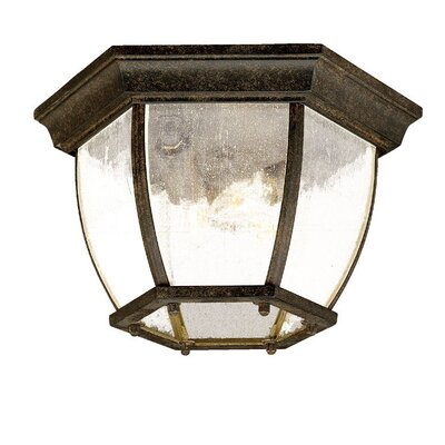 Porterfield 3-Light Flush Mount Finish: Black Coral, Shade Type: Clear Seeded