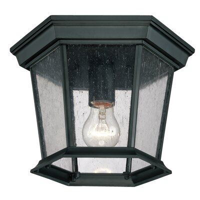 Illuma 1-Light Flush Mount Finish: Matte Black