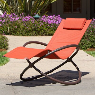 Kimmel Original Orbital Zero Gravity Chair Seat Color: Orange