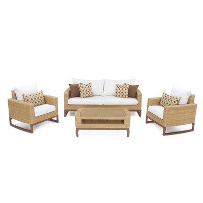 Addison 4 Piece Sunbrella Sofa Set with Cushions