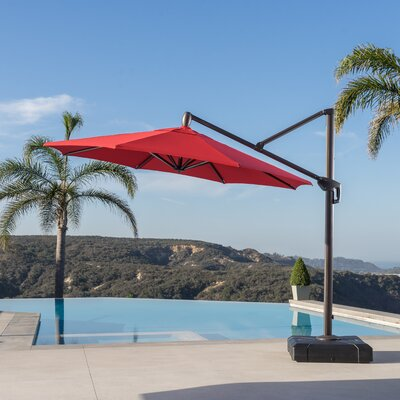 10 Cantilever Umbrella Fabric: Red