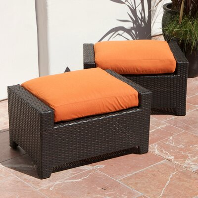 Northridge Ottoman with Cushion Fabric: Tika Orange