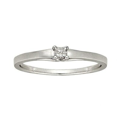 10k White Gold Diamond Accent Promise Ring