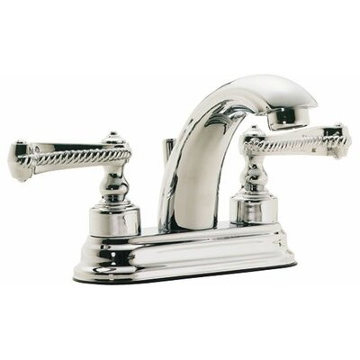 "Santa Monica ""J"" Style Double Handle Centerset Bathroom Sink Faucet Finish: Bella Terra Bronze"