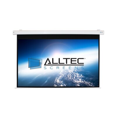 Matte White Electric Projection Screen Viewing Area: 84 H x 84 W