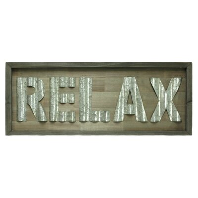Stetson Relax Sign Wall Décor