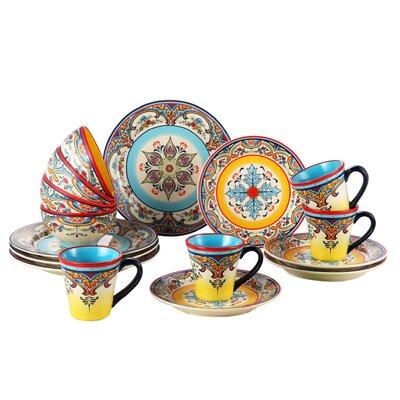 Zanzibar 16 Piece Dinnerware Set YS-ZB-1001