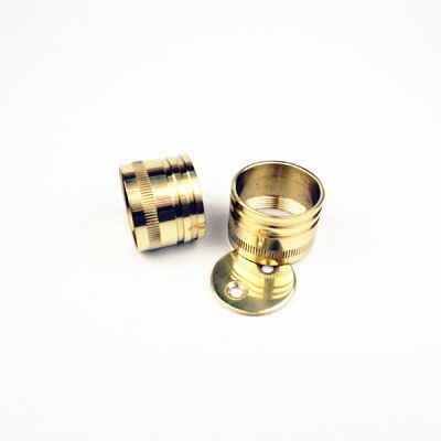Bath Suites I.D. Closet Rod Brackets (Pair) Finish: Polished Brass, Size: 1.25 H x 1.25 W x 1 D