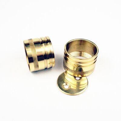 Bath Suites I.D. Closet Rod Brackets (Pair) Finish: Polished Brass, Size: 1.5 H x 1.5 W x 1 D